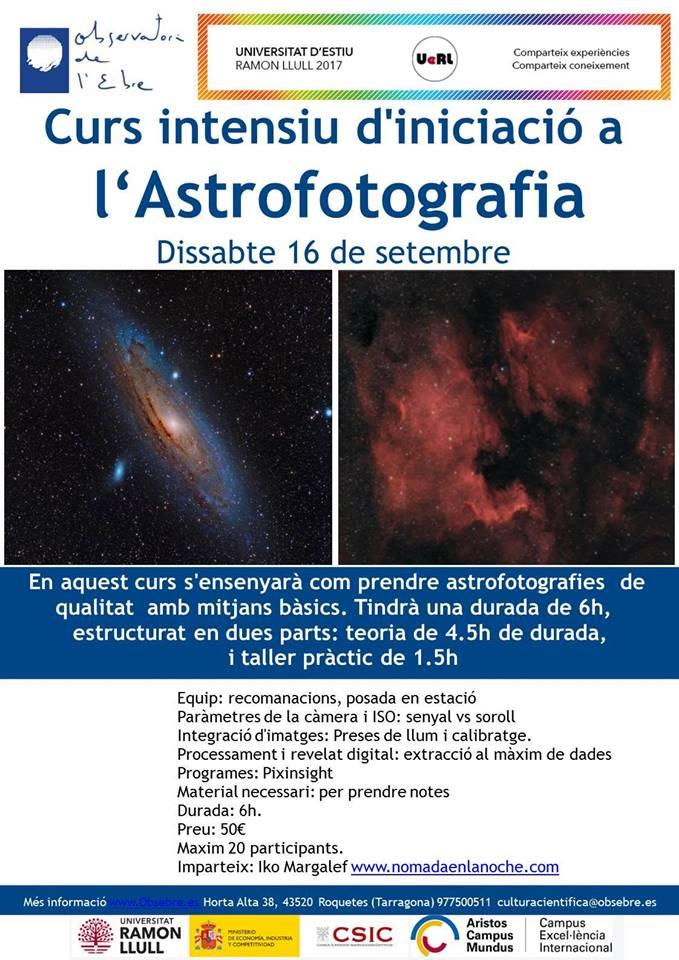 curso astrofotografia observatorio ebro