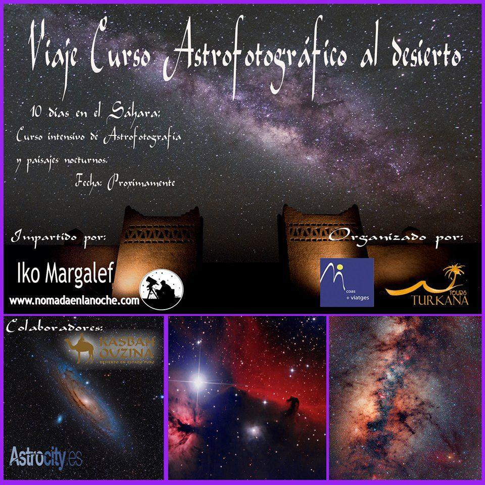 Curso de astrofotografía en el desierto
