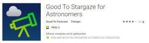 Good to Stargaze: App de meteorología, seeing y polución lumínica
