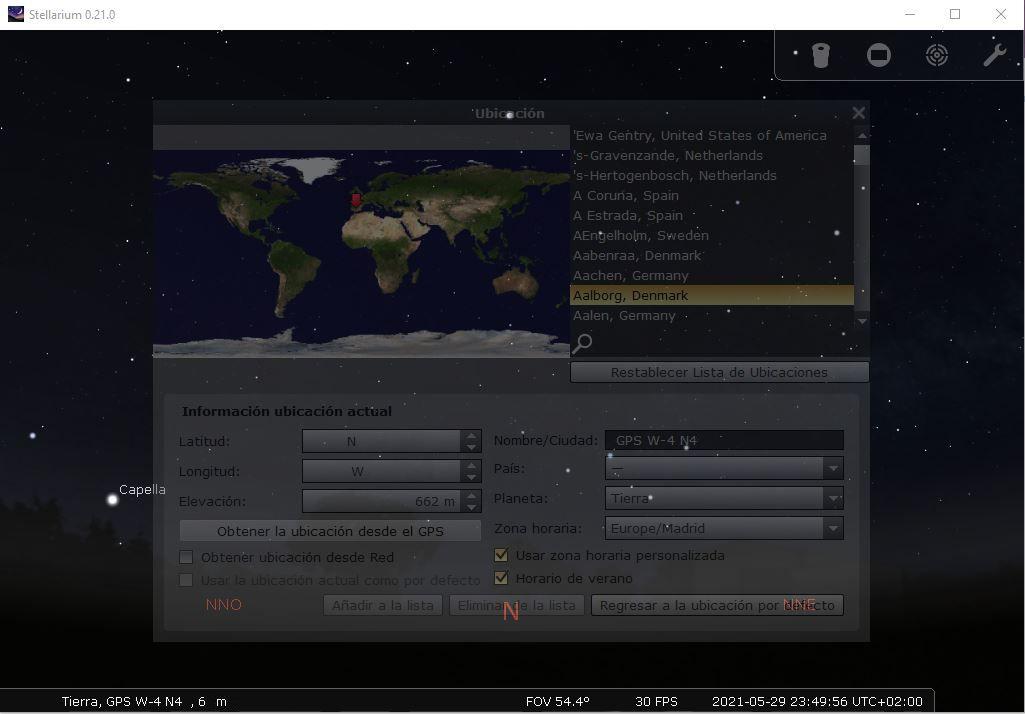 Stellarium - GPS
