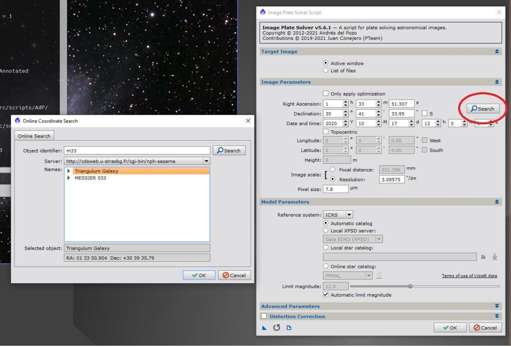 PixInsight - Image Plate Solver