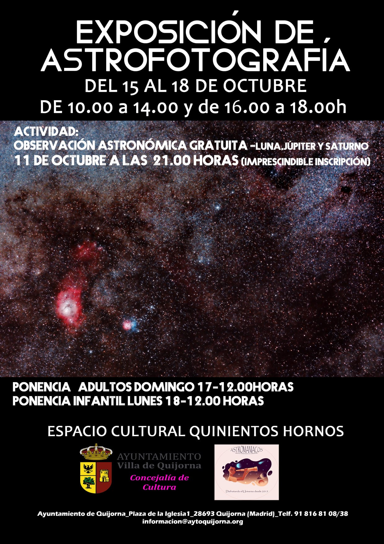 Exposición de astrofotografía en Quijorna